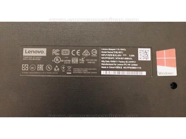 Lenovo Ideapad 110 / 2gb / Ram 500 / Hdmi / Amd A6 / Teclado