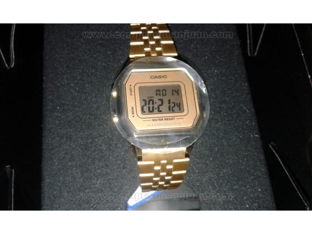 add93217498 Reloj Femenino Casio La680wga-9df Nuevo Sin Uso
