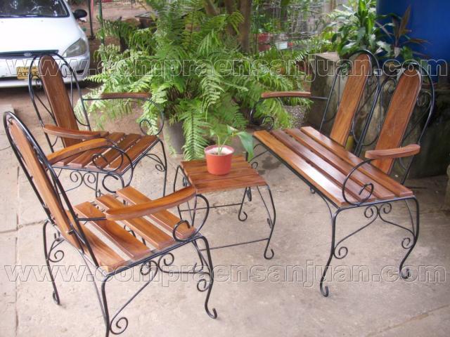 Muebles en hierro forjado jardin comedores - Muebles jardin hierro ...
