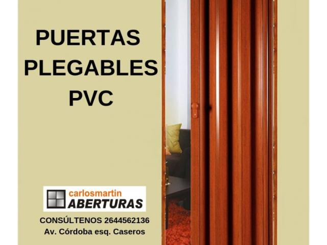 Puertas plegables de pvc for Aberturas de pvc en cordoba capital
